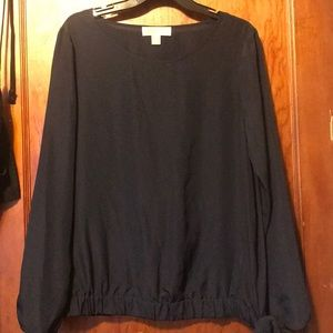 Michael Kors Navy Blouse Large